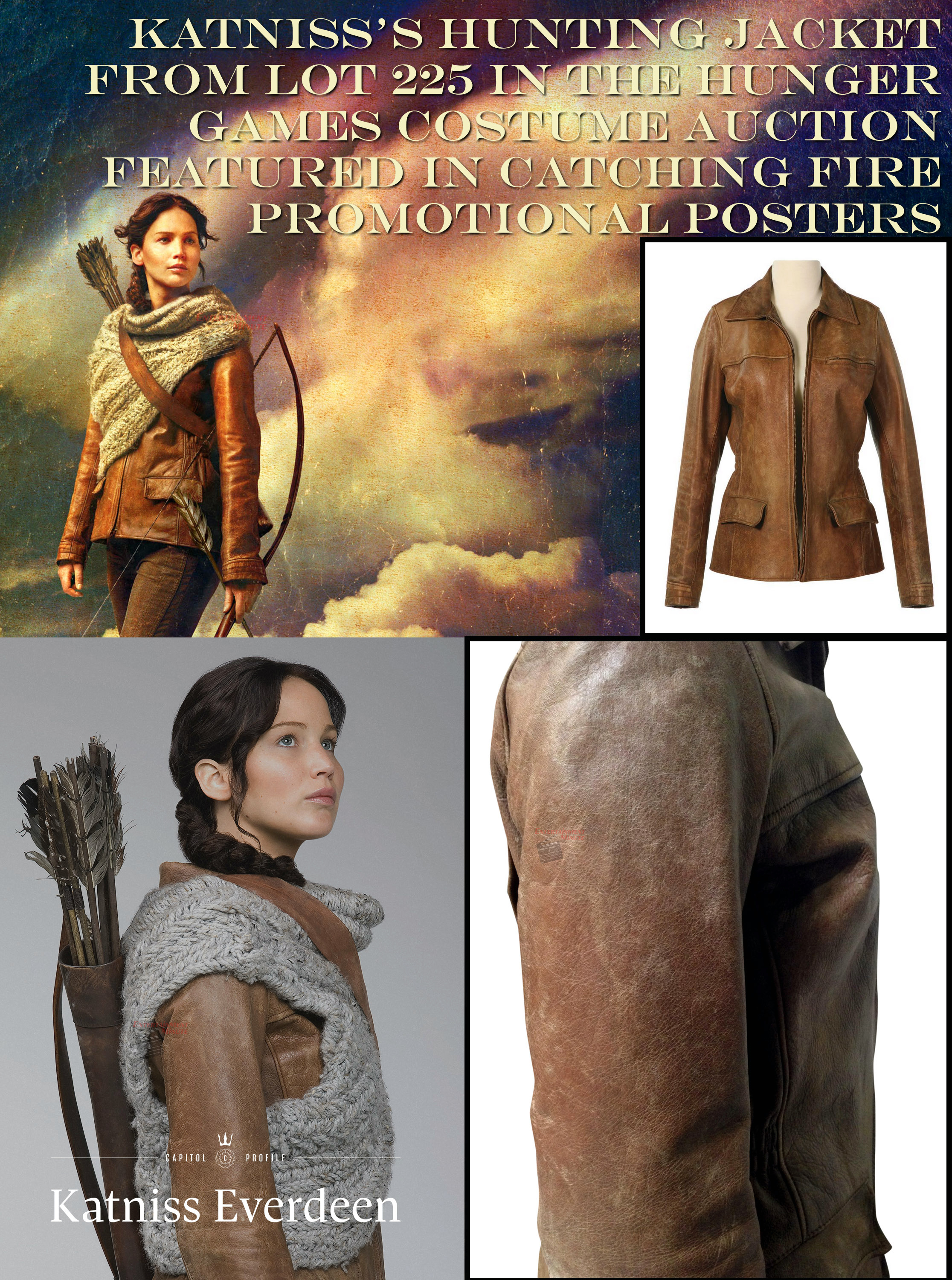 hunger games auction katniss hunting jacket photo match movie auctionjacketandposters