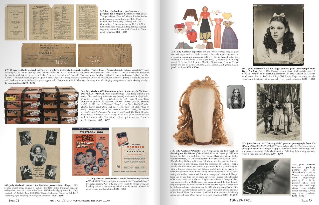 Profiles in History Love Liza July 30-Aug 1 auction catalog